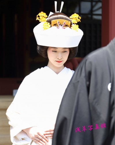浅草神社挙式・白無垢姿がとってもきれい!