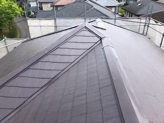 本日屋根コロニアルの遮熱塗装工事を施工しました