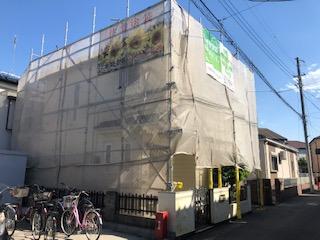 鶴ヶ島市で仮設足場工事が完了致しました