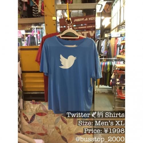 Twitter柄のTシャツ入荷です!