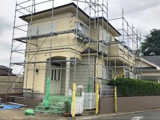 東松山市で外壁塗装工事の完了前の点検をしてきました