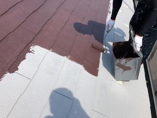 鶴ヶ島市で屋根コロニアルの遮熱塗装工事を施工しました