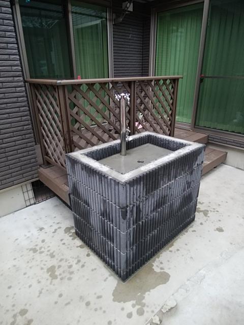 鶴見区で立水栓。