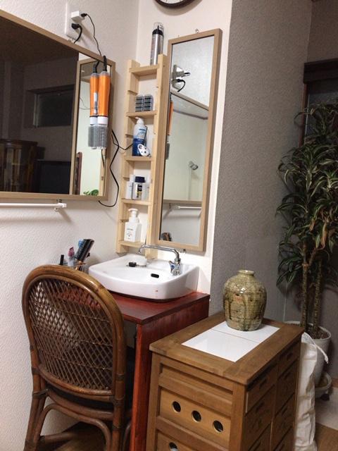 洗面化粧台作り