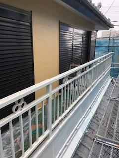 坂戸市でバルコニー手摺錆止め塗装工事をしてきました