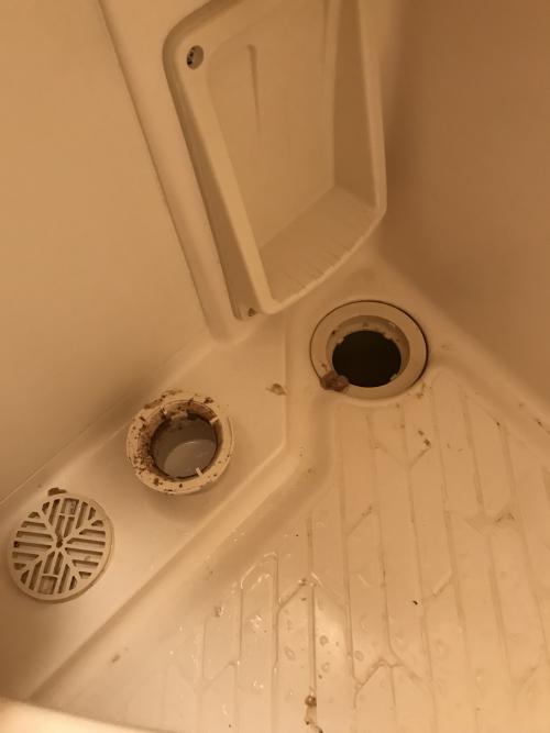 さいたま市中央区にて浴室排水つまり除去実施。