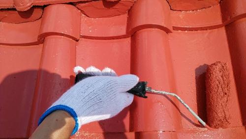富士見市屋根上塗り