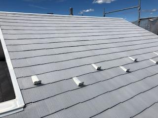鶴ヶ島市で屋根の下塗り工事を施工しました