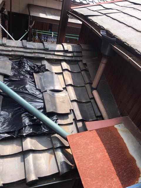 屋根の修理です、