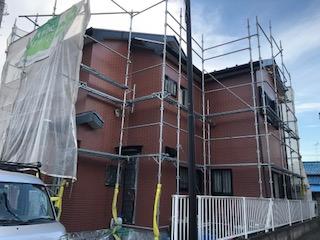 鶴ヶ島市で屋根・外壁塗装工事完了前の点検をしてきました