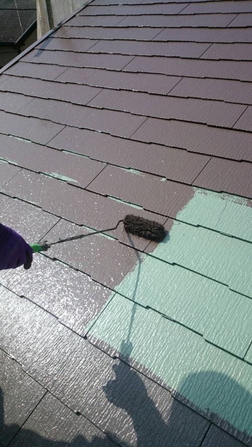 ふじみ野市屋根上塗り施工