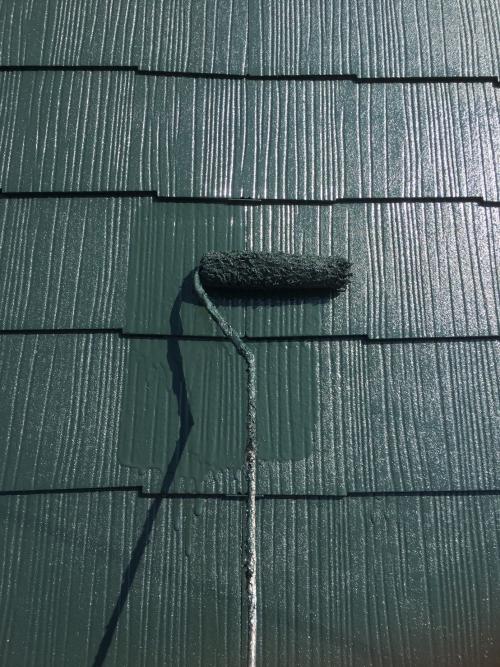 富士見市屋根上塗り施工