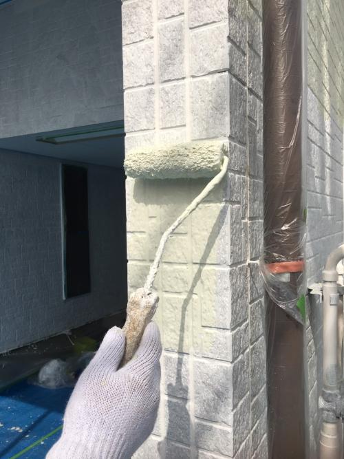 富士見市壁中塗り施工