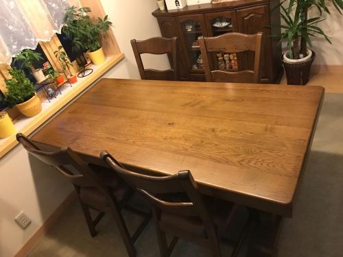 埼玉県上尾市 テーブル再塗装