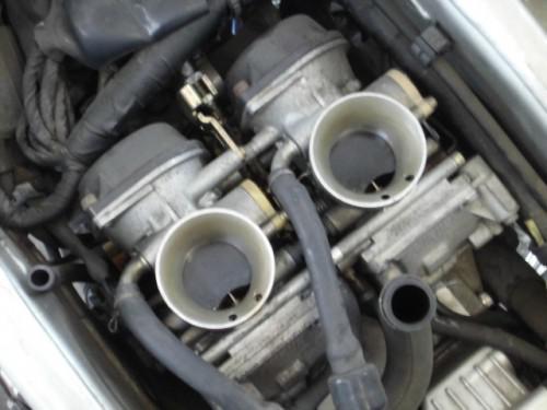 ヤマハTDM850 エンジン調子悪くキャブOHで、、、