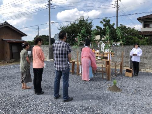 群馬県太田市におきまして地鎮祭をとりおこないました