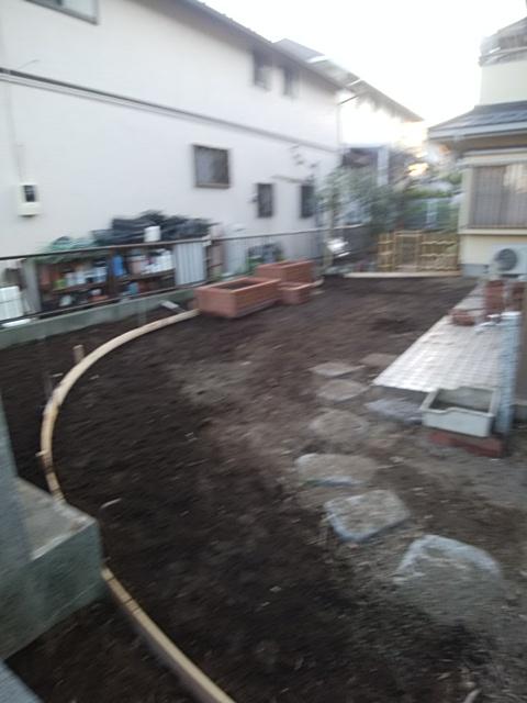 金沢区で庭の改修工事。