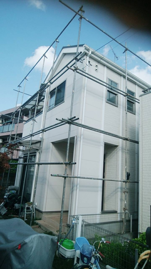 富士見市着工屋根壁塗装