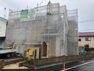 川越市で屋根・外壁高圧洗浄工事を施工しました