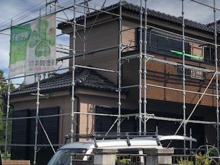 鶴ヶ島市で外壁塗装工事完了前の点検をしてきました