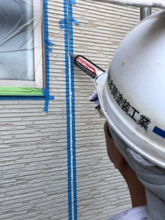 川越市でサイディングのシーリング工事を施工しました