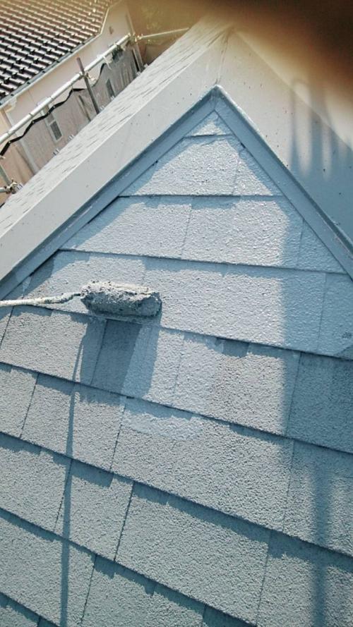 所沢市屋根下塗り2回目