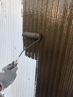 川越市でサイディング中塗り工事を施工してきました