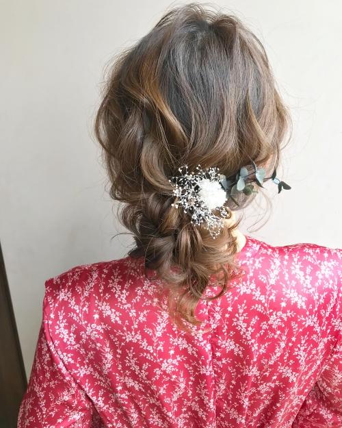 brambly  アップアレンジヘア お出かけスタイル