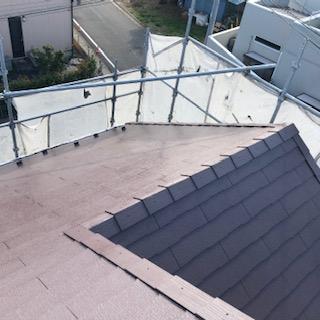 川越市で屋根遮熱塗装工事を施工しました