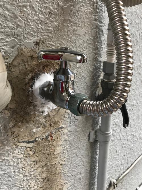 川口市にて水漏れ修理実施。