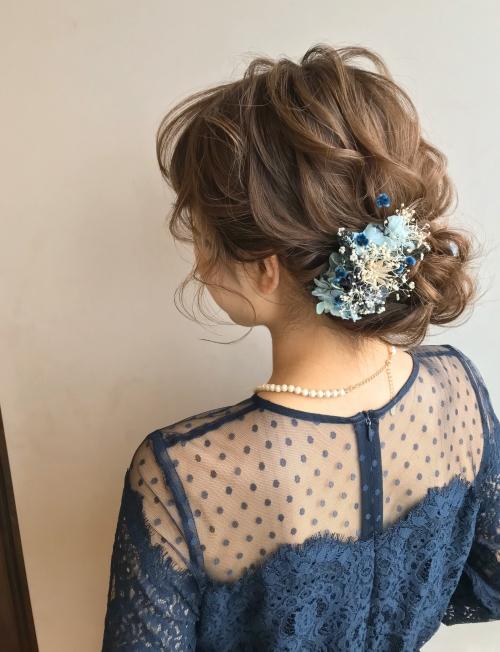 brambly  パーティアップアレンジ ブルー系ドレス
