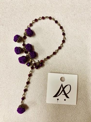 ANA POPOVA オーガンジーのブレスレット 濃い紫