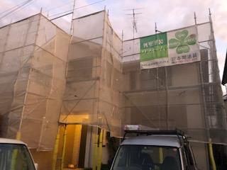 滑川町で仮設足場工事が完了致しました