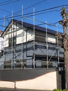 坂戸市で外壁塗装工事完了前の点検をしてきました