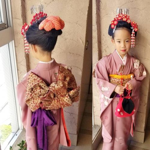 七五三 7歳 髪型 日本髪 帯結び 2019年