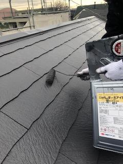本日屋根塗装工事を施工しました
