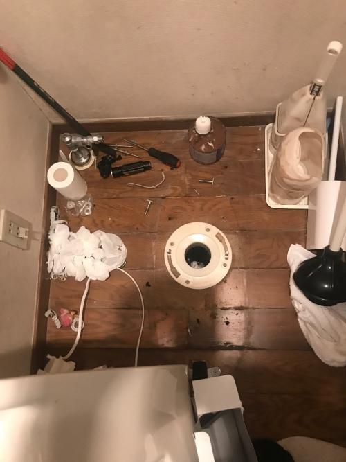 さいたま市にてトイレつまり除去実施。