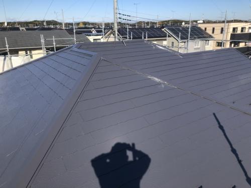 滑川町で屋根遮熱塗装工事が完了致しました