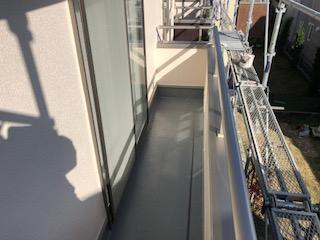 バルコニーFRP防水塗装工事を施工しました