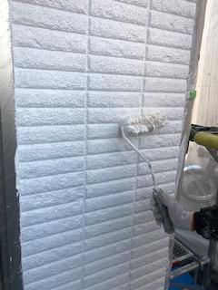 日高市でALCパワーボードの下塗り工事を施工しました