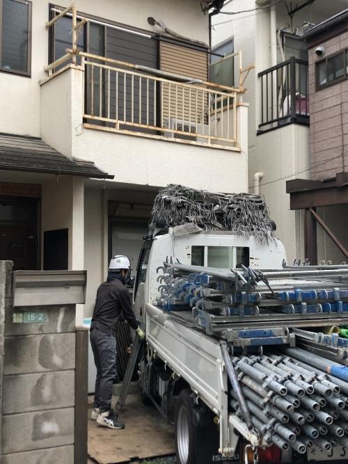 東京都荒川区町屋 外壁・屋根のリフォーム工事始めました
