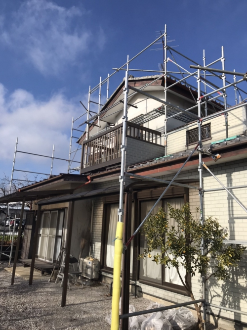 熊谷市で仮設足場工事が完了しました