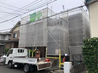鶴ヶ島市で屋根・外壁高圧洗浄工事を施工してきました