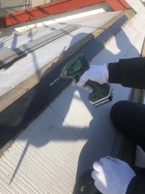 鶴ヶ島市で屋根の棟交換工事を施工してきました