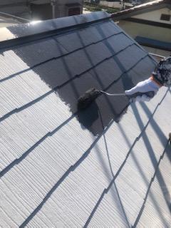 鶴ヶ島市で屋根の塗装工事を施工してきました
