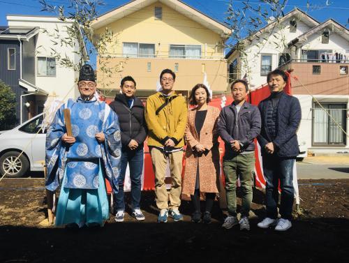 湘南で注文住宅/地鎮祭でお施主様の繁栄を祈願!
