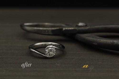 0.7カラットダイヤモンドリングの製作を致しました四街道から