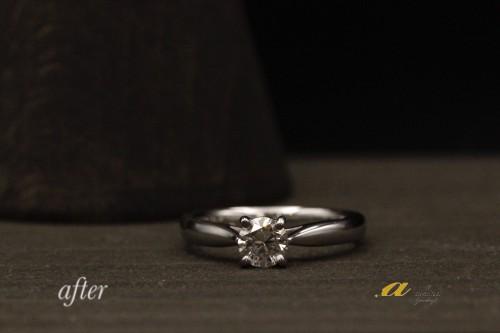 花見川区から重ね着けの出来る婚約指輪のご注文でした