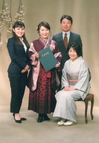 卒業式:バッチリ!完璧です!時短での卒業式ですが~