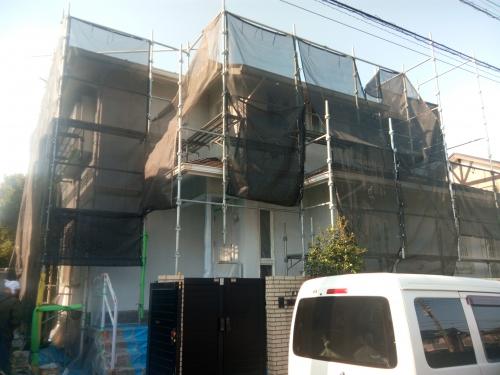横浜市青葉区某所塗装工事